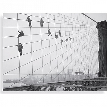60x80 New York Retro, Painters On Brooklyn Bridge FP02913 (арт.5-11029)