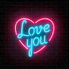 40x40 Love You c LED подстветкой FP00283 (арт.5-42661)