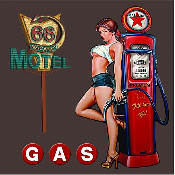40x40 Pin Up Girl Gasoline c LED подстветкой FP00279 (арт.5-42658)